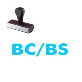 Large Regular BC / BS Rubber Stamp