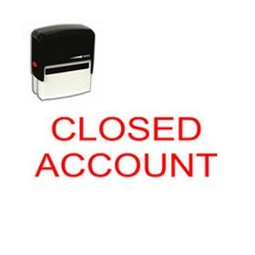 Self-Inking Closed Account Stamp