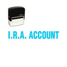 Self Inking I.R.A. Account Rubber Stamp (Large)
