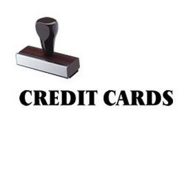 Credit Cards Rubber Stamp