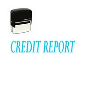 Self Inking Credit Report Rubber Stamp (Large)