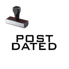Post Dated Rubber Stamp