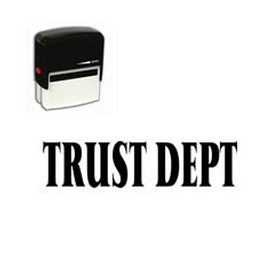 Self Inking Trust Dept Rubber Stamp (Large)