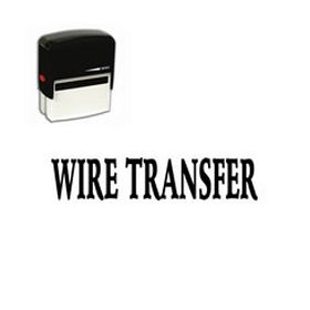 Self Inking Wire Transfer Rubber Stamp (Large)
