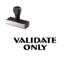 Validate Only Rubber Stamp