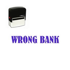 Self Inking Wrong Bank Rubber Stamp (Large)
