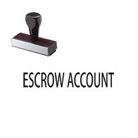 Escrow Account Rubber Stamp