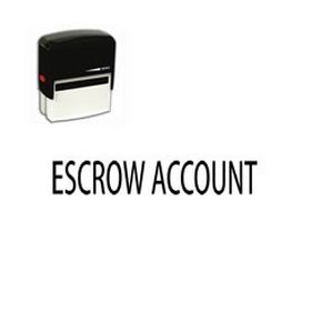 Self Inking Escrow Account Rubber Stamp (Large)