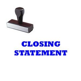 Regular Closing Statement Rubber Stamp (Large)