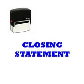 Self-Inking Closing Statement Stamp