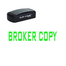 Slim Pre-Inked Broker Copy Rubber Stamp (Large)