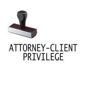 Large Regular Attorney-Client Privilege Rubber Stamp