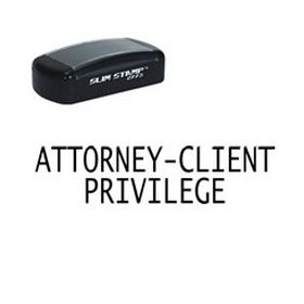 Large Slim Pre-Inked Attorney-Client Privilege Rubber Stamp