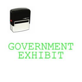 Self-Inking Government Exhibit Stamp