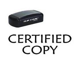 Pre-Inked Certified Copy Stamp