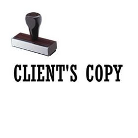 Clients Copy Rubber Stamp