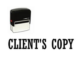 Large Self Inking Clients Copy Rubber Stamp