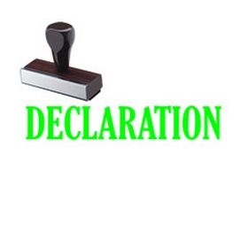 Declaration Rubber Stamp