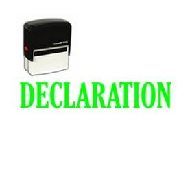 Self-Inking Declaration Stamp