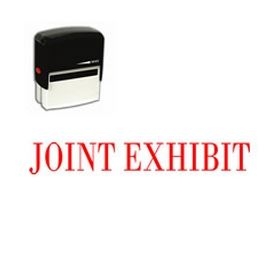 Large Self Inking Joint Exhibit Rubber Stamp