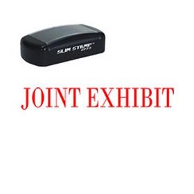 Large Slim Pre-Inked Joint Exhibit Rubber Stamp