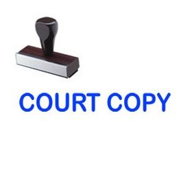 Court Copy Rubber Stamp