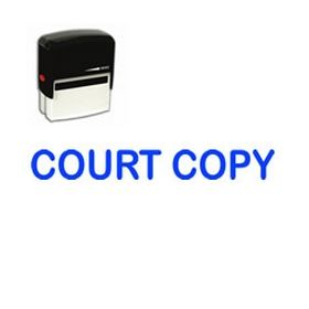 Large Self Inking Court Copy Rubber Stamp