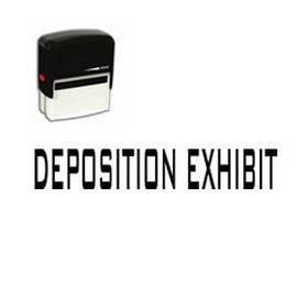 Large Self Inking Deposition Exhibit Rubber Stamp