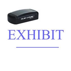 Large Slim Pre-Inked Exhibit ______ Rubber Stamp
