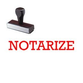 Large Regular Notarize Rubber Stamp