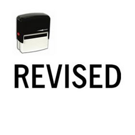 Large Self Inking Revised Rubber Stamp