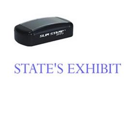 Pre-Inked States Exhibit Legal Stamp