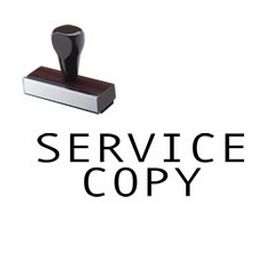 Service Copy Rubber Stamp
