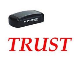 Large Slim Pre-Inked Trust Rubber Stamp