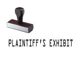 Plaintiffs Exhibit Rubber Stamp