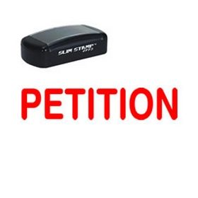 Large Slim Pre-Inked Petition Rubber Stamp