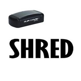 Slim Pre-Inked Shred Rubber Stamp (Large)
