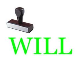 Large Regular Will Rubber Stamp