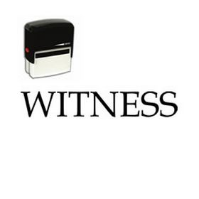 Self-Inking Witness Stamp