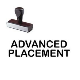 Regular Advanced Placement Rubber Stamp