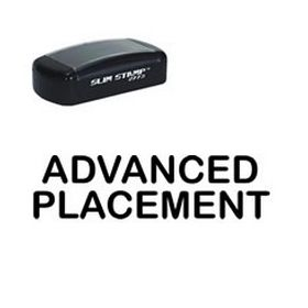 Large Slim Pre-Inked Advanced Placement Rubber Stamp