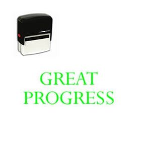 Self-Inking Great Progress Teacher Stamp