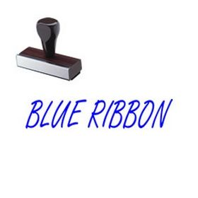 Regular Blue Ribbon Rubber Stamp (Large)
