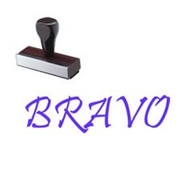 Large Regular Bravo Rubber Stamp