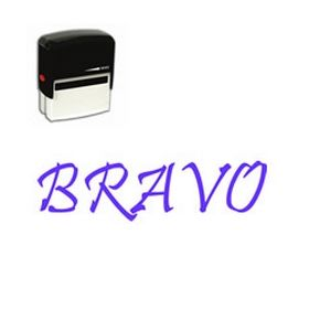 Large Self Inking Bravo Rubber Stamp
