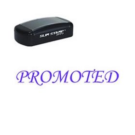 Slim Pre-Inked Promoted Rubber Stamp (Large)