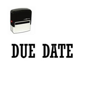 Self Inking Due Date Rubber Stamp (Large)