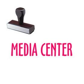 Media Center Library Rubber Stamp