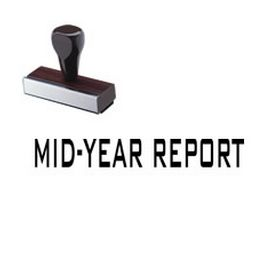 Mid-Year Report Rubber Stamp