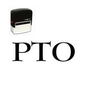 Large Self Inking PTO Rubber Stamp
